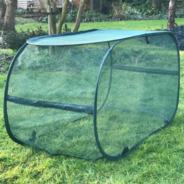 Fruit Cages - Pop Up Fruit Cages – Pop-Up Net Grow Bag Crop Cage – 1.1m L x 0.45m W x 0.55m H
