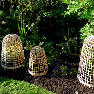 Cloches & Tunnels – Bamboo Bell Cloches – Bamboo Bell Cloche – 1 x small, medium and large (pack of 3)