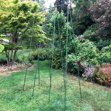 Plant Supports – Pea & Bean Frames - Bean Buddy Heavy Duty Runner Bean Grow Frame - 2.4m x 1.2m x 0.75m wide