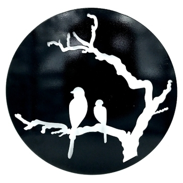 Garden Decor - Garden Wall Art - 'Bird Song' Garden Wall Art Decoration - 40cm dia x 3mm thick