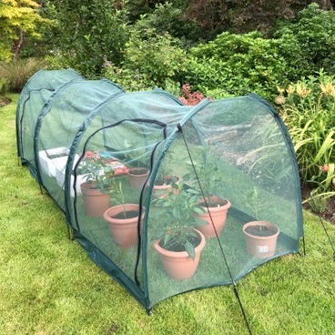 Cloches & Tunnels – Pro-Gro Net Tunnel Cloche – 3m long x 1m wide x 1m high