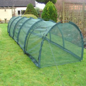 Cloches & Tunnels – Grow Tunnels – Net Grow Tunnels - Pro-Gro Net Tunnel Cloche – 5m long x 1m wide x 1m high